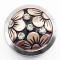 20MM Flower Snap Silber Gold Überzogen mit Emaille Snap Button