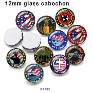 10個/ロットさまざまなサイズの国旗ガラス画像印刷製品冷蔵庫用マグネットカボション