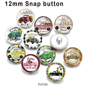 10 unids / lote productos de impresión de imágenes de vidrio para automóviles de varios tamaños imán de nevera cabujón