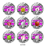 20MM  Dance  MOM  Print  glass  snaps buttons