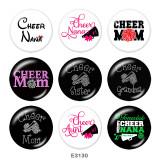 Стеклянные кнопки с принтом Cheer MOM 20 мм