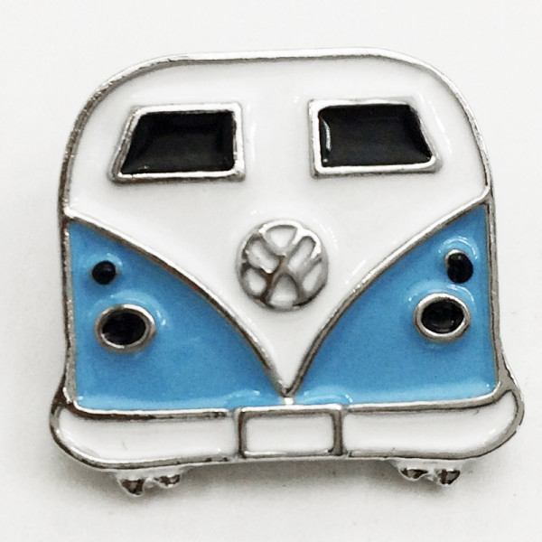 20MM school bus car snap silver Plated with enamel snap button