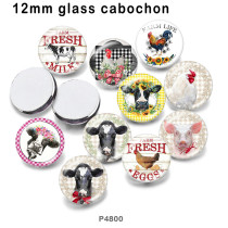 10pcs/lot farm  glass picture printing products of various sizes  Fridge magnet cabochon