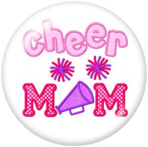 Botones a presión de vidrio Cheer MOM Print de 20 mm