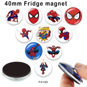 10 unids / lote Marvel productos de impresión de imágenes de vidrio de varios tamaños imán de nevera cabujón