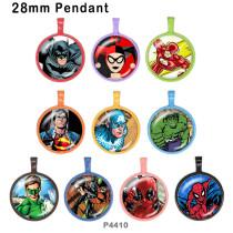 10 Stück / Los Marvel Glas Bilddruckprodukte in verschiedenen Größen Kühlschrank Magnet Cabochon