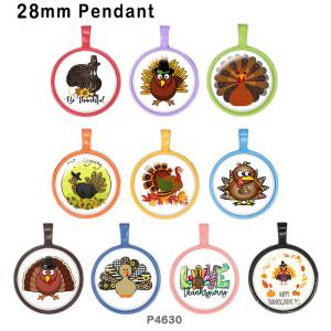 10 unids / lote productos de impresión de imágenes de vidrio de Acción de Gracias de varios tamaños imán de nevera cabujón