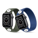 Reloj de 38 / 40MM Aplicable a la gama completa de correas de Apple, compatible con correas de reloj elásticas trenzadas de nailon, correas de reloj de nailon iwatch integradas, trozos de 18 mm de nuevo ajuste