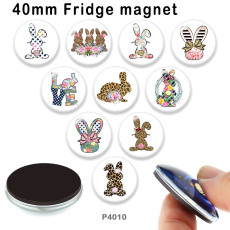 10pcs/lot Easter glass picture printing products of various sizes  Fridge magnet cabochon