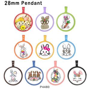 10 unids / lote productos de impresión de imágenes de vidrio de Pascua de varios tamaños imán de nevera cabujón
