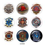 20MM  USA  Navy  Print  glass  snaps buttons