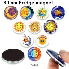 10 шт. / Лот солнечное стекло изображение полиграфическая продукция различных размеров магнит на холодильник кабошон