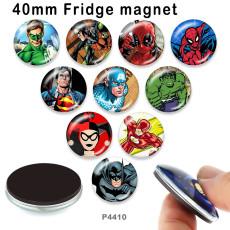 10 pcs / lot produits d'impression d'image en verre Marvel de différentes tailles cabochon aimant de réfrigérateur