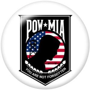 20MM Pow MlaPrintガラススナップボタン