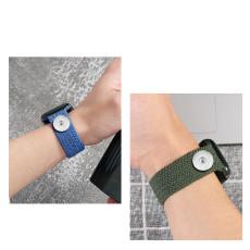 Reloj de 42 / 44MM Aplicable a la gama completa de correas de Apple, compatible con correas de reloj elásticas trenzadas de nailon, correas de reloj de nailon iwatch integradas, trozos de 18 mm de nuevo ajuste
