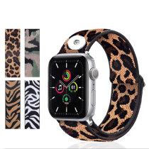 Broches aplicables Correa de reloj Apple de 42/44 mm 123456 Generation SE Correa de reloj elástica trenzada de nailon de Apple universal Correa de reloj iwatch integrada que se ajusta a trozos de 18 mm