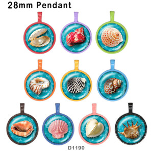 さまざまなサイズの10個/ロットシェルガラス画像印刷製品冷蔵庫用マグネットカボション