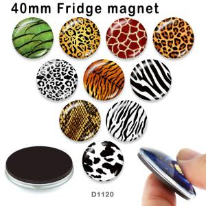 10個/ロットさまざまなサイズのヒョウガラス画像印刷製品冷蔵庫用マグネットカボション