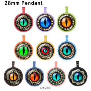 10 Stück / Los Augen Glasbilddruckprodukte in verschiedenen Größen Kühlschrankmagnet Cabochon