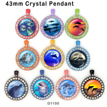 10pcs/lot Marine life glass picture printing products of various sizes  Fridge magnet cabochon