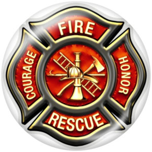 20MM Feuerwehr Druckknöpfe aus Glas drucken