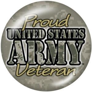 20MM Army Navy Print Glasknöpfe