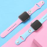 42 / 44MM Gilt für die gesamte Palette der verfügbaren Apple-Uhrenarmbänder. TPU-Monochrom-Silikonuhrenarmband-Iwatch-Armband für 18-mm-Stücke