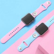 42 / 44MM Aplicable a la gama completa de correas de reloj de Apple disponibles Correa de reloj de silicona monocromática de color sólido de TPU disponible Correa iwatch para trozos de 18 mm