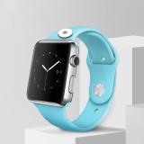 38 / 40MM Aplicable a la gama completa de correas de reloj de Apple disponibles Correa de reloj de silicona monocromática de color sólido de TPU disponible Correa iwatch para trozos de 18 mm