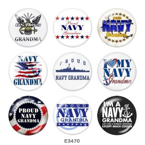 20MM USA Army Navy Druckknöpfe aus Glas