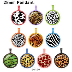 10 Stück / Los Leopardenglas-Bilddruckprodukte in verschiedenen Größen Kühlschrankmagnet Cabochon