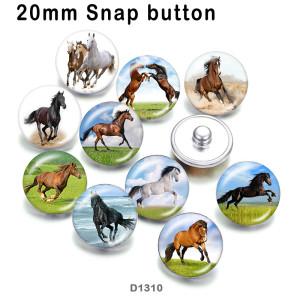10 Stück / Los Pferdeglas Bilddruckprodukte in verschiedenen Größen Kühlschrank Magnet Cabochon