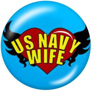 20MM USA Navy Print Glasschnappknöpfe