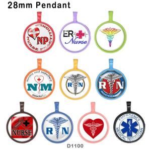 10 Stück / Los Krankenschwester Glas Bilddruckprodukte in verschiedenen Größen Kühlschrank Magnet Cabochon
