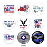 20MM空軍プリントガラススナップボタン