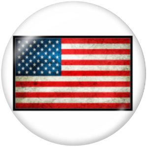 20MM USA Flag Glasdruckknöpfe drucken