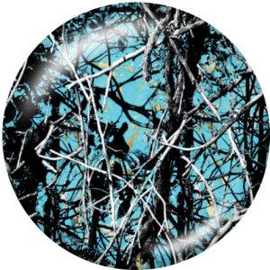 Botones a presión de vidrio con estampado de árbol de color de 20 mm