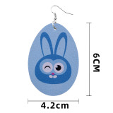Leather earrings Easter egg skin earrings rabbit chick PU leather earrings
