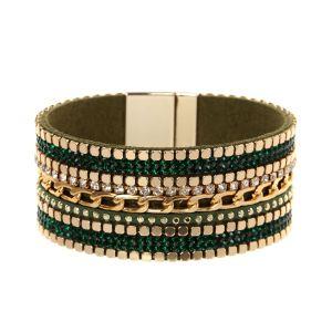 Pulsera de ala ancha, cadena, pulsera de diamantes de lujo.