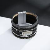 Bohemian Multilayer Bracelet, Chain, Diamond, Crystal, Accessories, Leather Bracelet