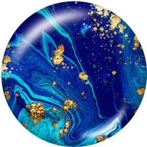 Botones a presión de vidrio con diseño de color de 20 mm