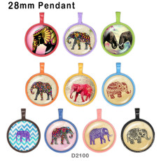 10 Stück / Los Elefantglas-Bilddruckprodukte in verschiedenen Größen Kühlschrankmagnet Cabochon