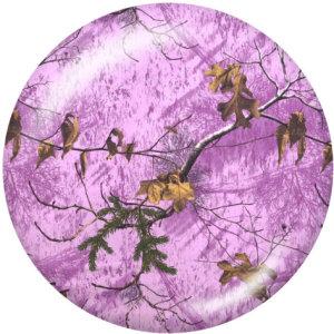 Botones a presión de vidrio con estampado de pájaros en color de 20 mm