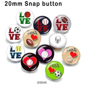 10 unids / lote amor deportes productos de impresión de imágenes de vidrio de varios tamaños imán de nevera cabujón
