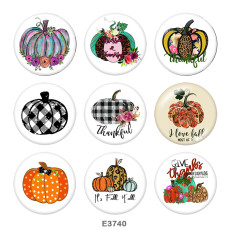 20MM   Thank you  Print   glass  snaps buttons