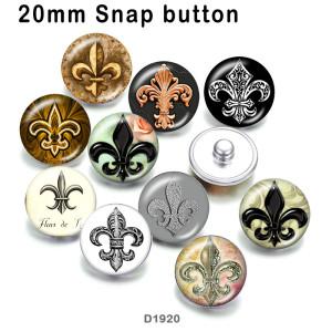 10 unids / lote productos de impresión de imágenes de vidrio de anclaje de varios tamaños imán de nevera cabujón