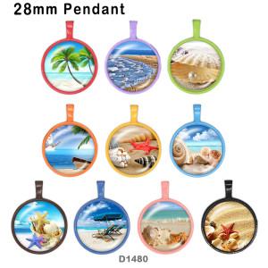 10 unids / lote productos de impresión de imágenes de vidrio junto al mar de varios tamaños imán de nevera cabujón