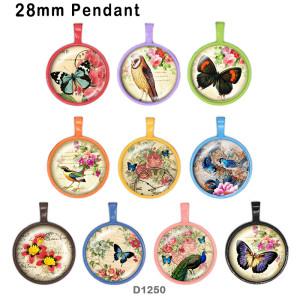 10 unids / lote productos de impresión de imágenes de vidrio de mariposa de varios tamaños imán de nevera cabujón