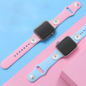 42 / 44MM Aplicable a toda la gama de correas de reloj de Apple disponibles Correa de reloj de silicona monocromática de color sólido de TPU disponible Correa iwatch para 2 piezas de trozos de 18 mm