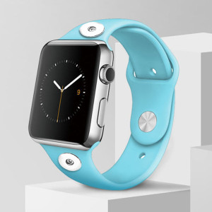 38 / 40MM Aplicable a toda la gama de correas de reloj de Apple disponibles Correa de reloj de silicona monocromática de color sólido de TPU disponible Correa iwatch para 2 piezas de trozos de 18 mm